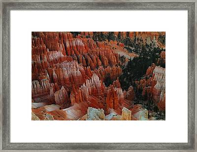 Red Rock Framed Print by Jeff Swan