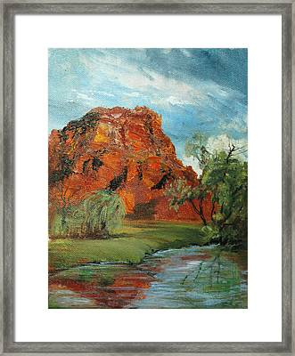 Red Rock Framed Print by Jolyn Kuhn