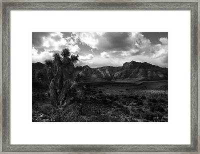 Red Rock Mountains Framed Print