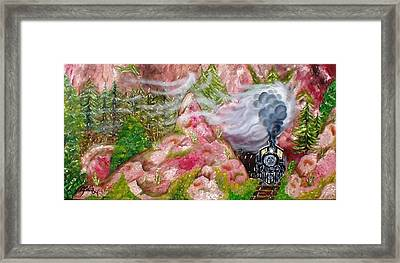 Framed Print featuring the painting Red Rock Run by The GYPSY And DEBBIE