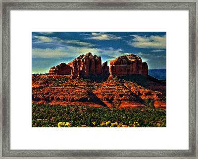 Red Rock State Park Arizona Sunrise Framed Print by Bob and Nadine Johnston