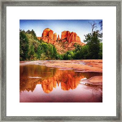 Red Rock State Park - Cathedral Rock Framed Print
