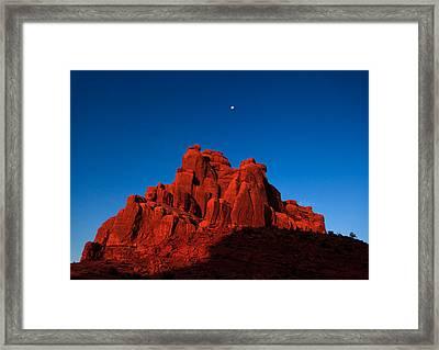 Red Rock Sunrise Framed Print by Jonathan Gewirtz