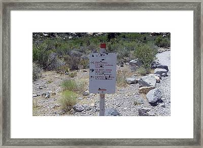 Red Rock Trails Framed Print