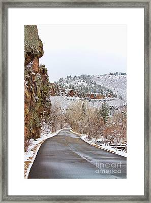 Red Rock Winter Drive Framed Print by James BO  Insogna