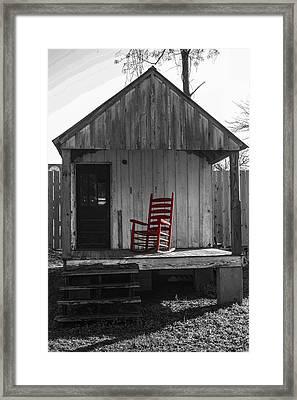 Red Rocker   Framed Print by Steven  Taylor