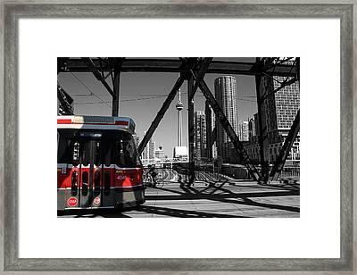 Red Rocket 10b Framed Print