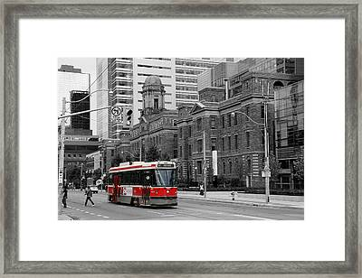 Red Rocket 36c Framed Print by Andrew Fare