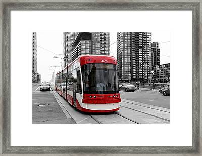 Red Rocket 38c Framed Print by Andrew Fare