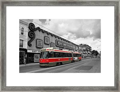 Red Rocket 4b Framed Print by Andrew Fare