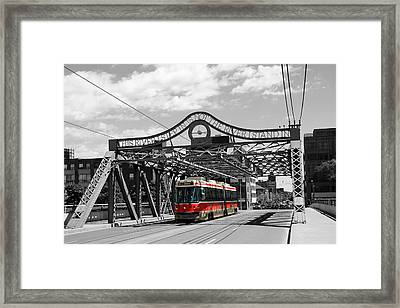 Red Rocket 5b Framed Print by Andrew Fare