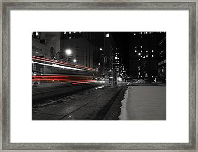 Red Rocket Framed Print by Andrew Fare