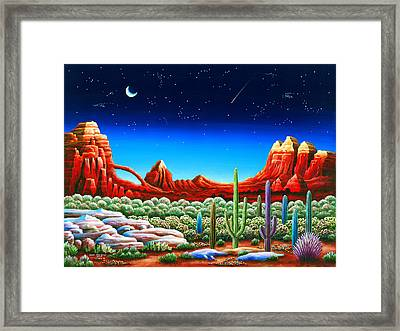 Red Rocks 5 Framed Print