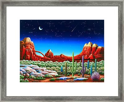 Red Rocks 5 Framed Print