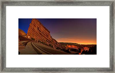 Red Rocks Amphitheatre At Night Framed Print