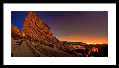 Red Rock Framed Prints