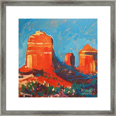 Red Rocks At Sedona Framed Print by Micheal Jones
