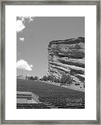 Red Rocks Framed Print by Barbara Bardzik