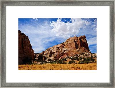 Red Rocks Framed Print by Donald Fink