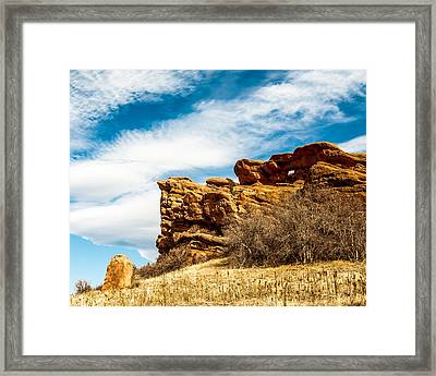 Red Rocks Dragon Framed Print