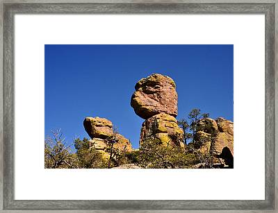 Framed Print featuring the photograph Red Rocks In The Chiracahua Mountains by Diane Lent