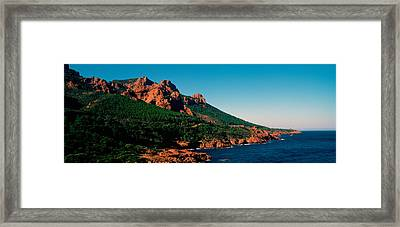 Red Rocks In The Late Afternoon Summer Framed Print