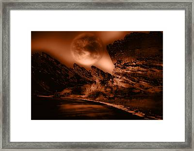 Red Rocks Framed Print by Kellice Swaggerty