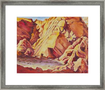 Framed Print featuring the painting Red Rocks by Michele Myers