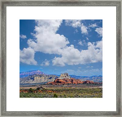 Red Rocks Near Kodachrome Basin Framed Print by Donald Fink