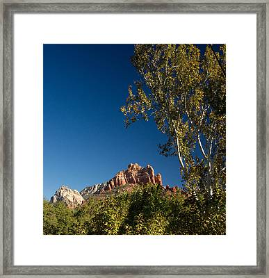 Red Rocks Oak Creek Canyon Sedona 3 Framed Print