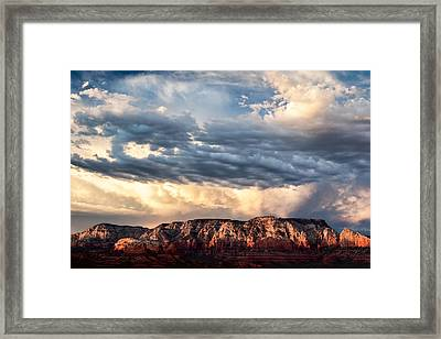 Red Rocks Of Sedona Framed Print by Dave Bowman