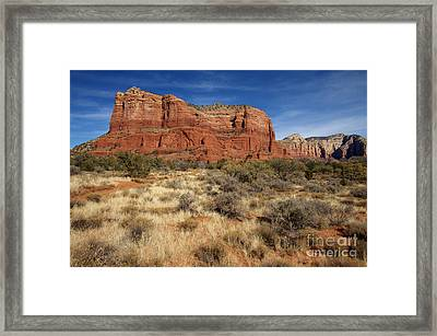 Red Rocks Of Sedona Framed Print