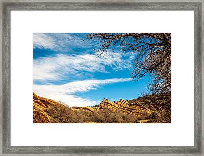Red Rocks View 001 Framed Print