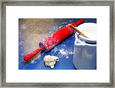Red Rolling Pin Framed Print