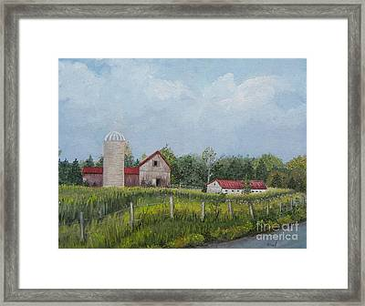 Red Roof Barns Framed Print