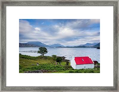 Red Roof Cottage Framed Print