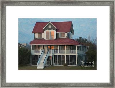 Red Roof Framed Print