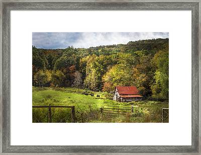Red Roof In The Smokies Framed Print