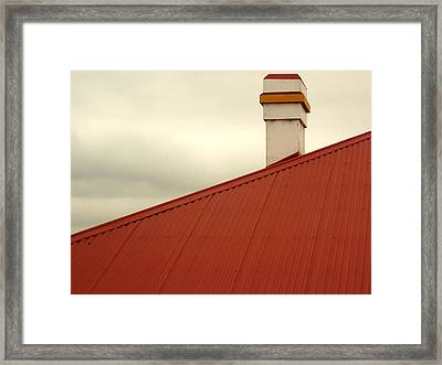 Red Roof Framed Print by Kaleidoscopik Photography