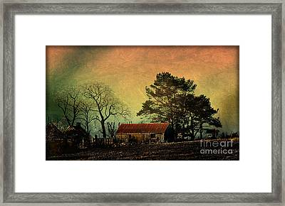 Red Roof Landscape Framed Print