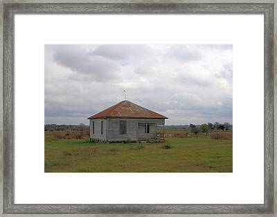 Red Roof Yesterday Framed Print by Paulette Maffucci