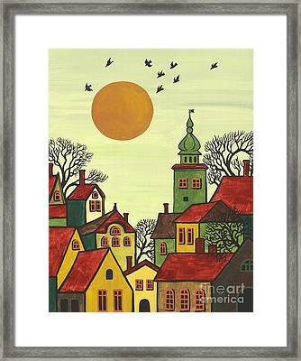 Red Roofs Framed Print