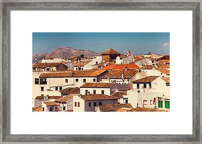 Red Roofs Of Ronda. Andalusia. Spain Framed Print
