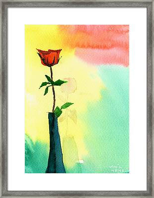 Red Rose 1 Framed Print by Anil Nene