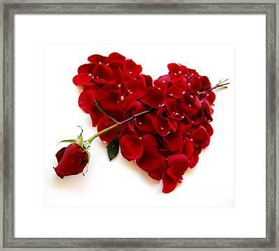 Red Rose Heart Valentine Framed Print