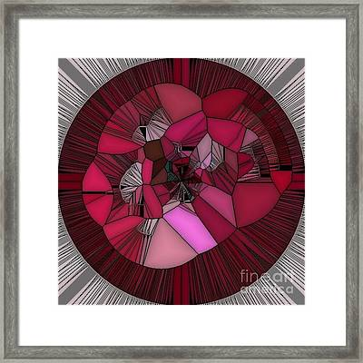 Red Rose In The Heart Framed Print