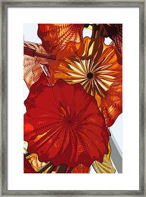 Framed Print featuring the digital art Red Rose by Kirt Tisdale