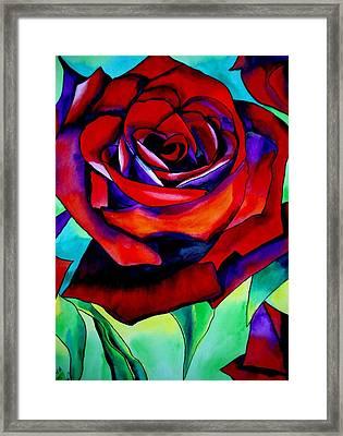 Red Rose Macro 2 Framed Print by Sacha Grossel