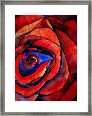 Red Rose Macro Framed Print by Sacha Grossel