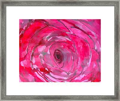 Red Rose Framed Print by Melissa Torres